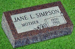 flat grave stones